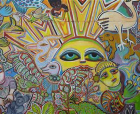 The Painting of Life by Mirka Mora - Carnarvon Accommodation