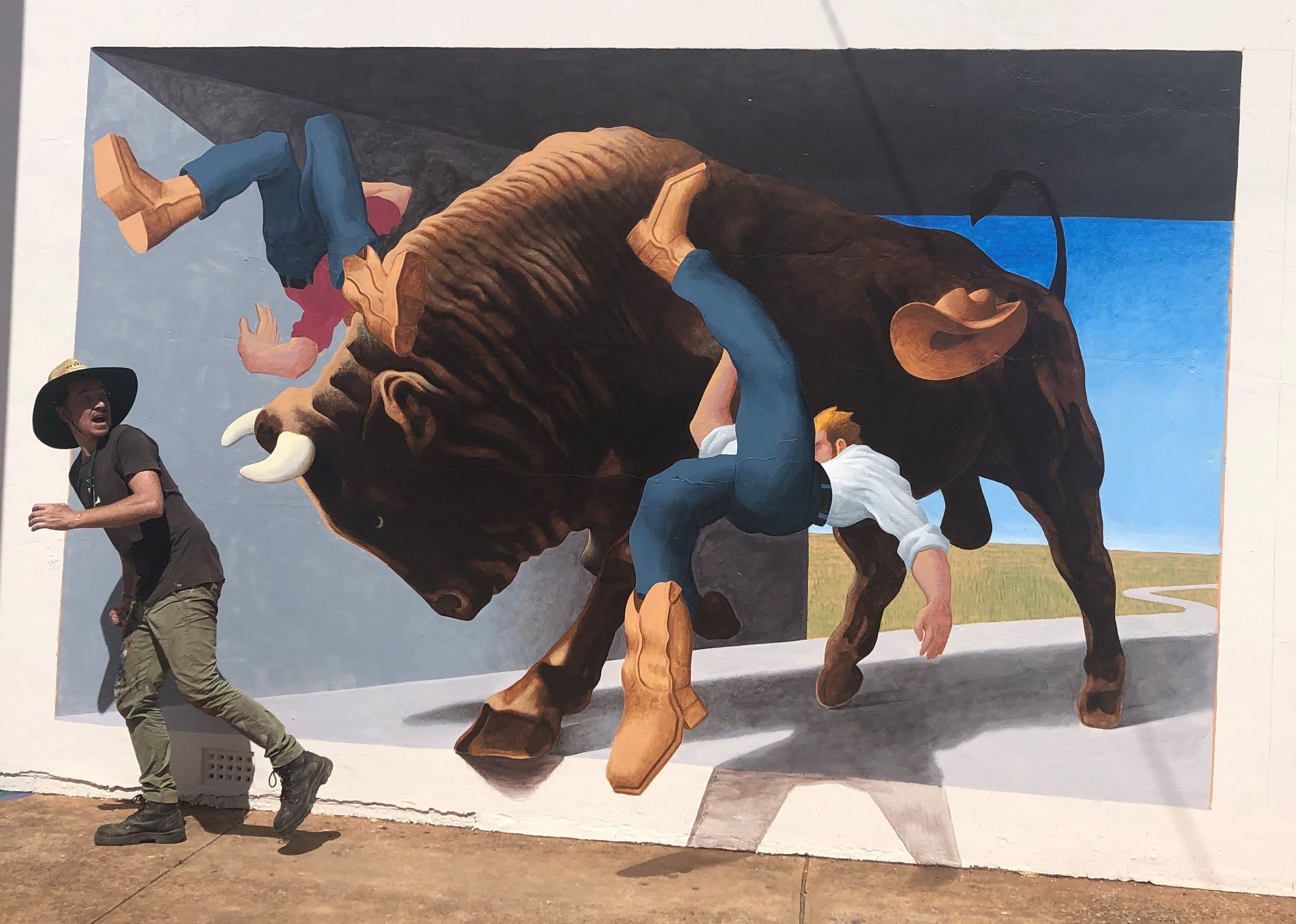 Big Bull Mural - Carnarvon Accommodation