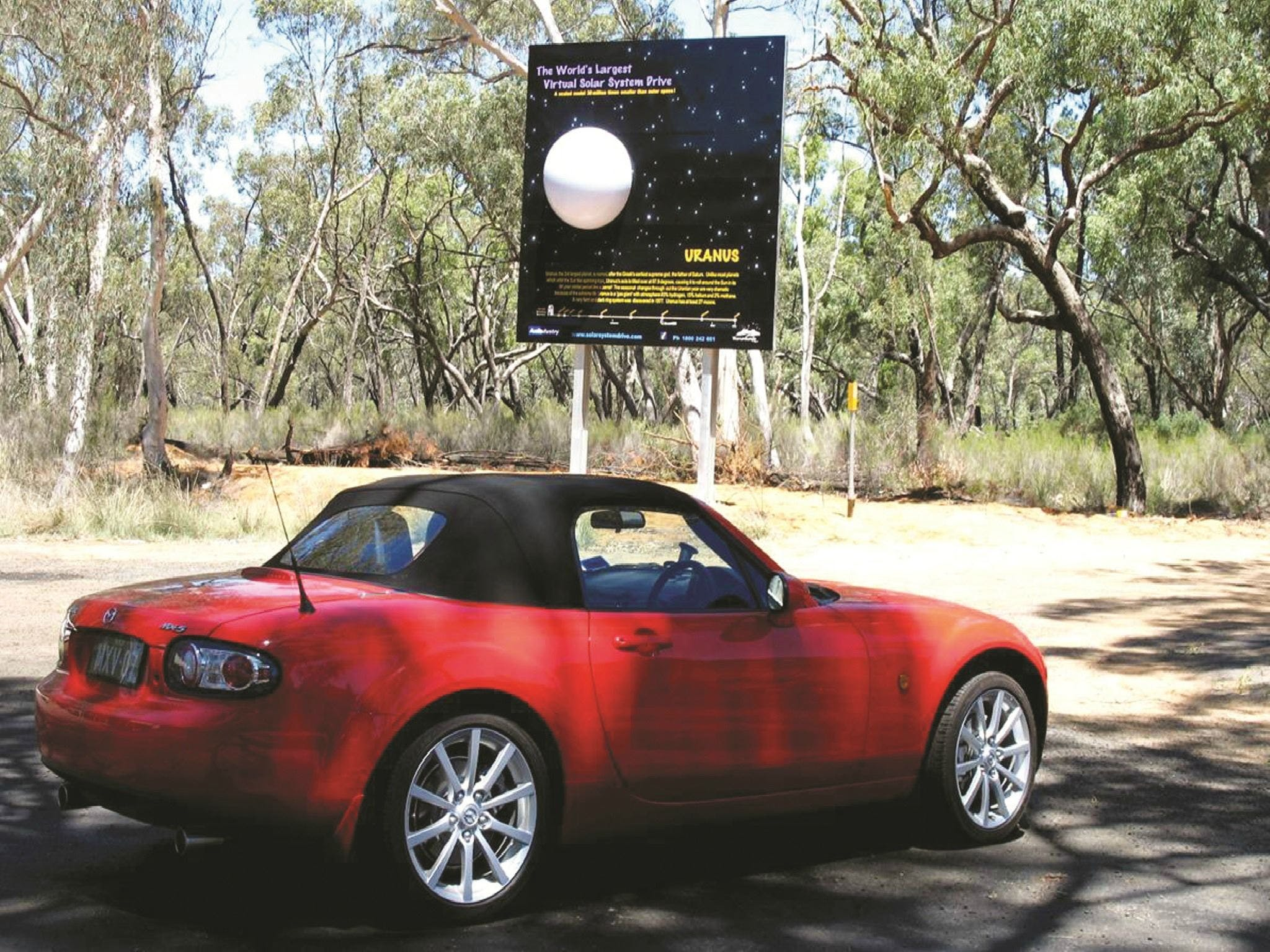 Worlds Largest Virtual Solar System Drive - Carnarvon Accommodation
