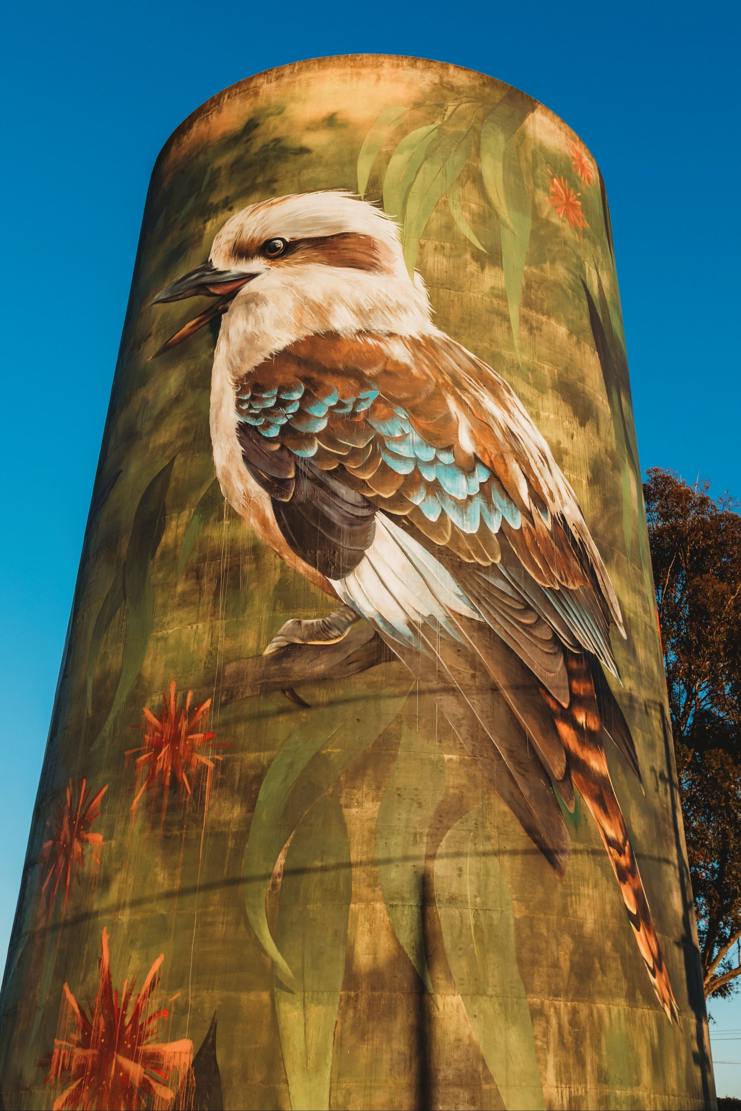 Deniliquin Water Tower Mural - Carnarvon Accommodation