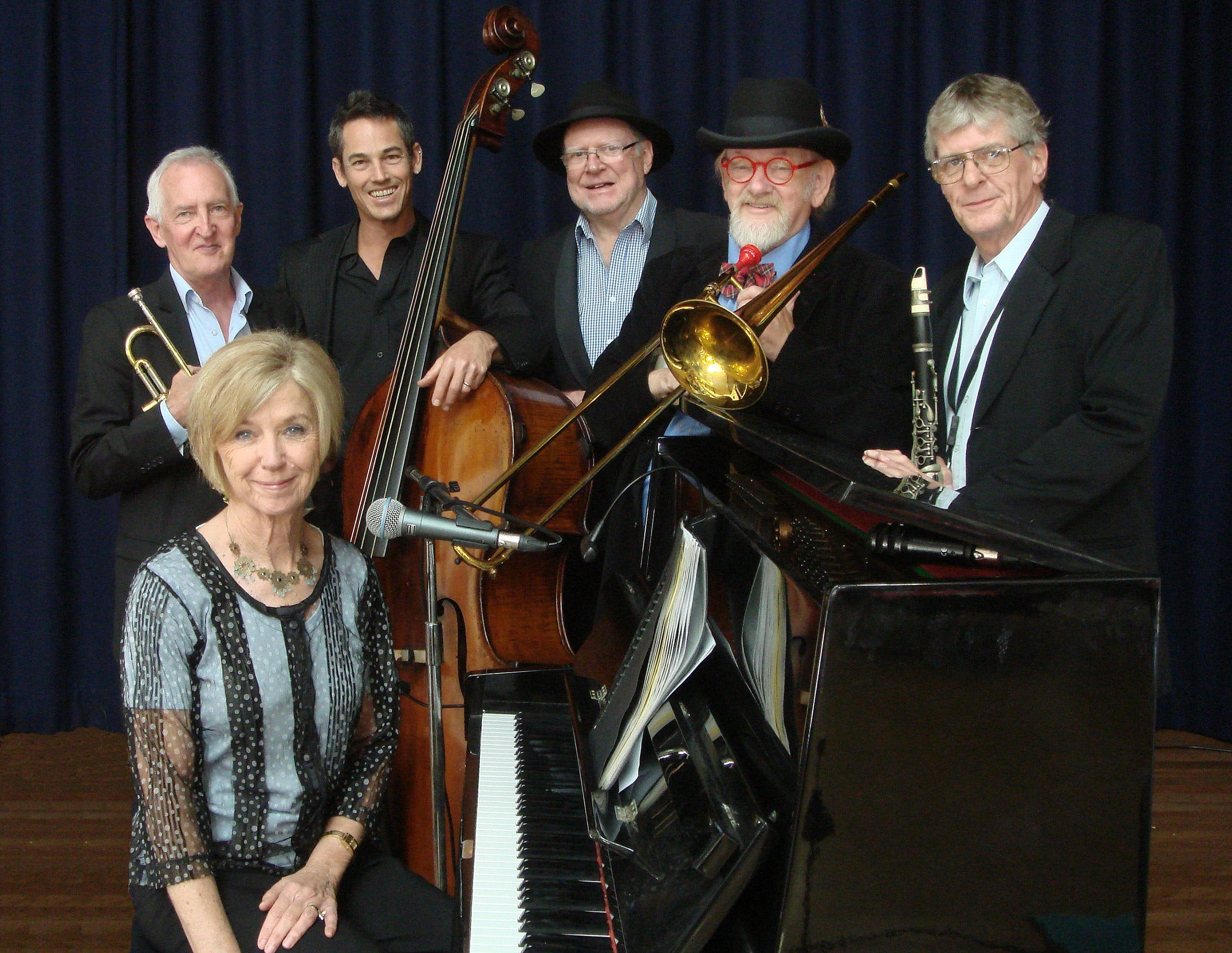 The Caxton Street Jazz Band in the Swigmore Hall at Robert Channon Wines - Carnarvon Accommodation